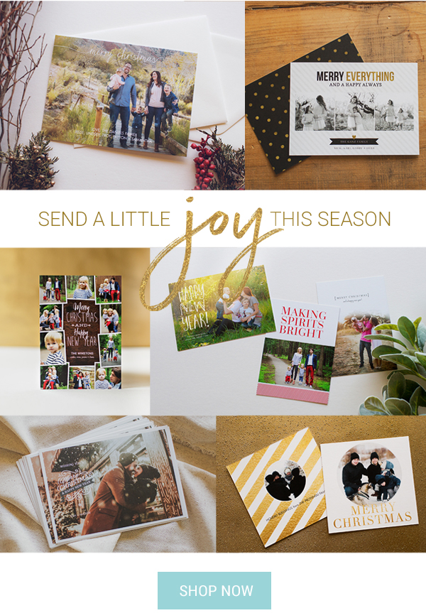Send a little joy this season with holiday cards
