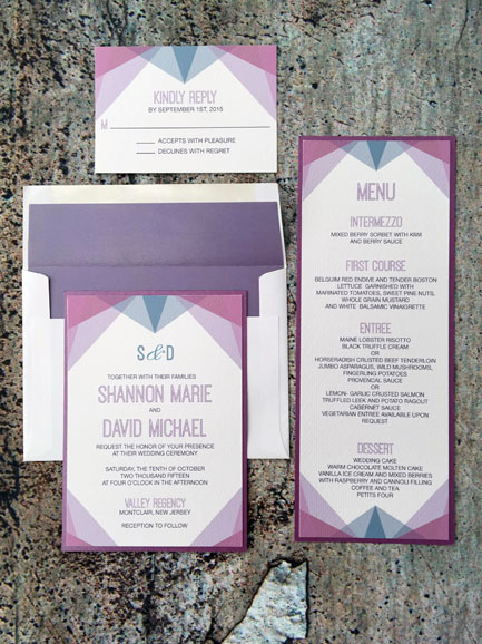 Modern Deco Invitation