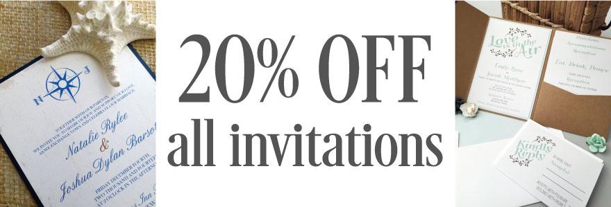 20% off Invitations