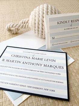 Nautical Stripes Invitation
