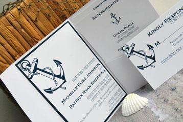 Shoreline Anchor Invitation