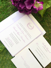 Lavender Wreath Invitation