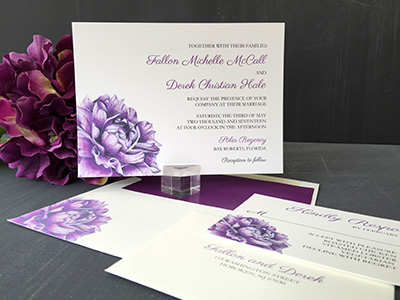 Charming Floral Invitation
