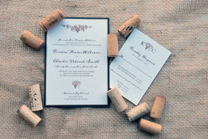 Elegant Vineyard Invitation