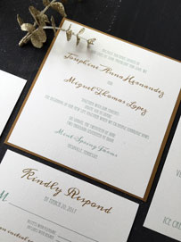 Elegant Emerald Invitation