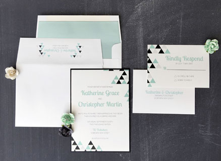 The Perfect Angle Wedding Invitation