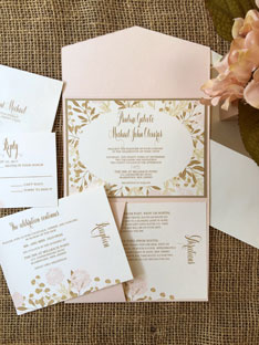 Botanic Whimsy Wedding Invitation