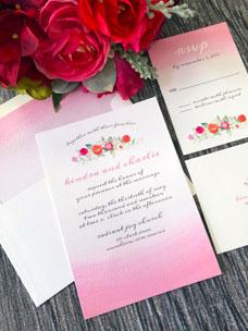 Faded Florals Invitation