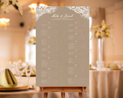 Framed Lace Seating Chart