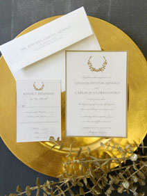 Gold Wreath Invitation