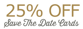 25% off save the date cards