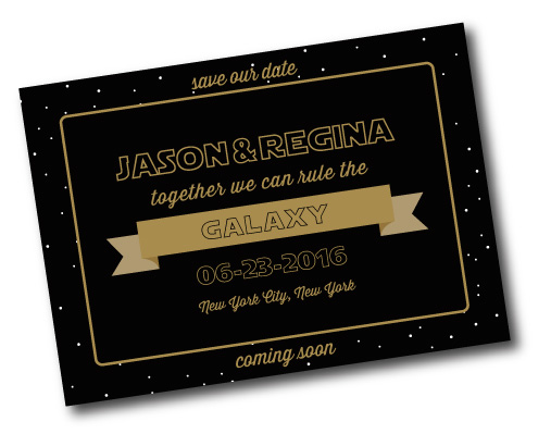 Wedding Wars Save the Date Card