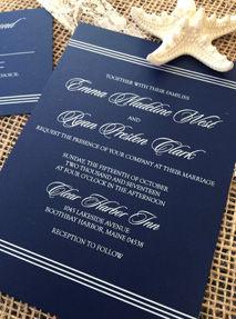 White ink invitation