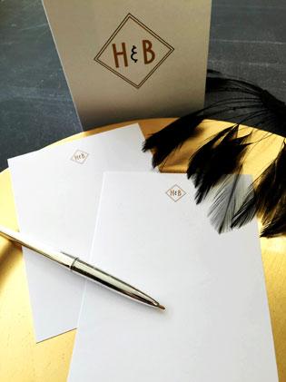 Art Deco Monogram Letterhead