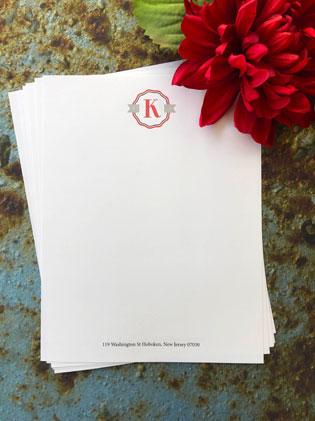 Bold Monogram Letterhead