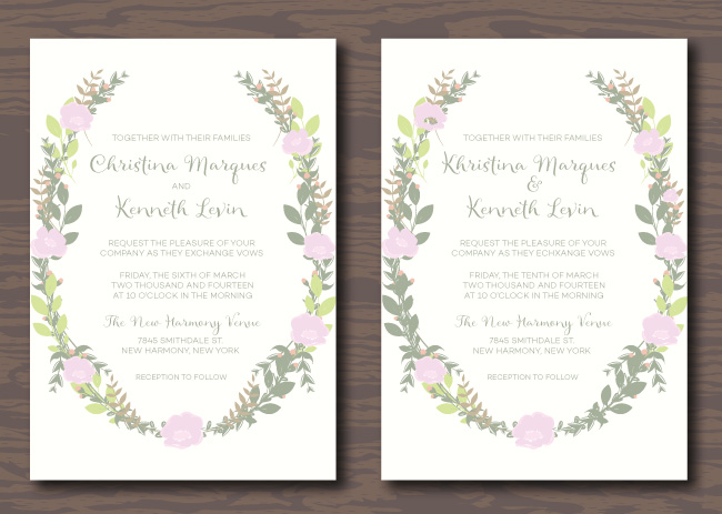 Can you spot the differences in these wedding invitations