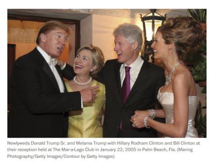 Hillary at Trump Wedding