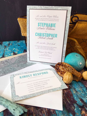Invitations with Map Designs