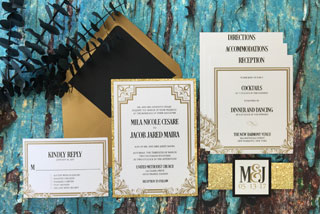 Giltter Invitations