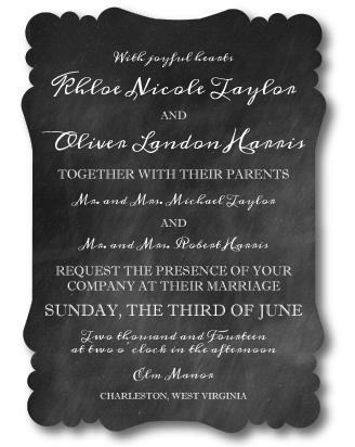 Victorian Die Cut Invitation