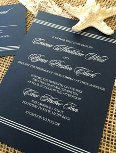 Wedding Invitations with White Ink