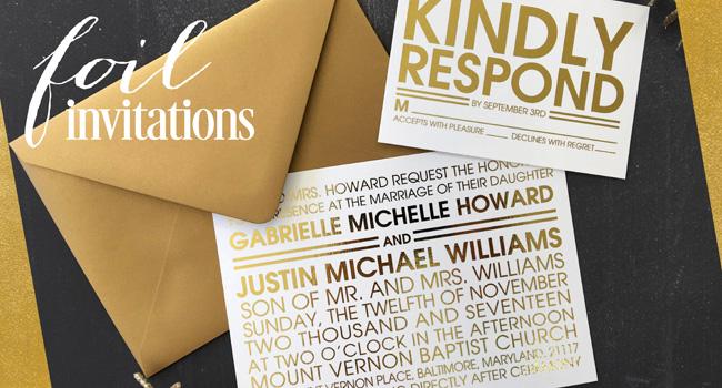 Foil Printed Wedding Invitations