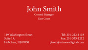 white ink business card